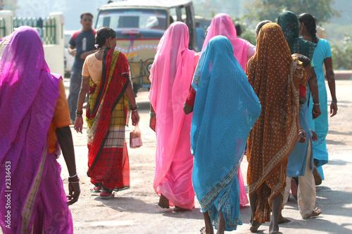 Foto op Canvas India colorful saris