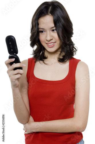 Fényképezés girl looking at phone