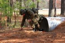 Marine On Assault Course