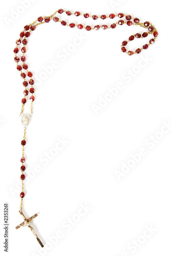 Fotografia, Obraz rosary beads isolated on white
