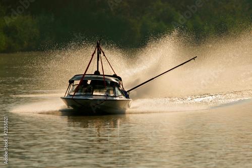 Poster Nautique motorise backlit boat