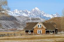 Log House On Prairie