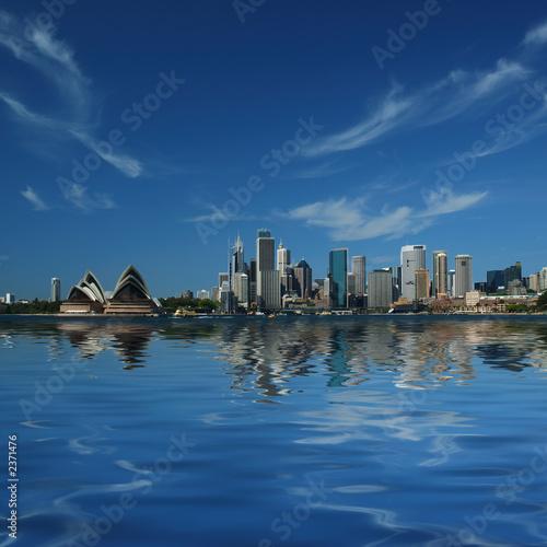 Foto-Kassettenrollo premium - sydney city reflections (von ILYA GENKIN)