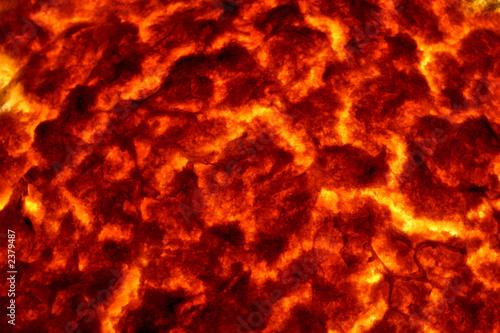 Poster Volcano hot molten lava 2