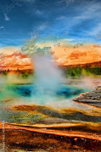 Obraz na płótnie hot spring, yellowstone national park