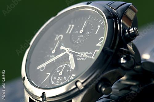 Fotomural montre chronographe de luxe en gros plan