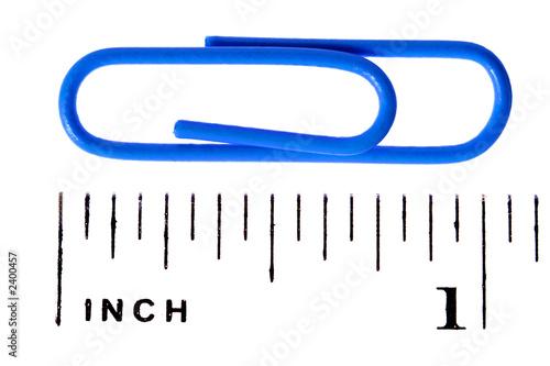 Fényképezés paper clip scale inch