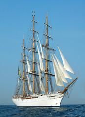 Panel Szklany Żagle voilier à trois mats