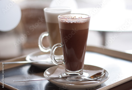 Canvas Prints Chocolate hot chocolate in a tall class