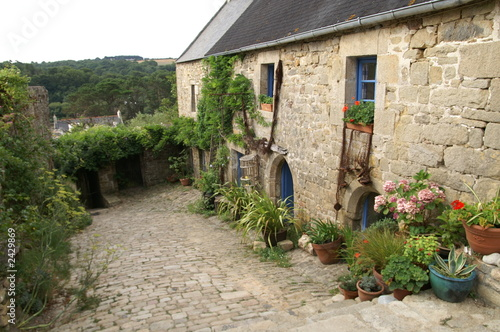 Fototapety, obrazy: une jolie maison en pierre de granit de bretagne