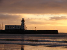 Scarborough Lighthouse At Daybreak