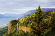 canvas print picture - vista house at the columbia gorge