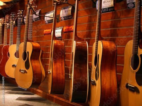 Fotobehang Muziekwinkel guitar gallery