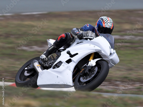 motorbike racing Canvas Print