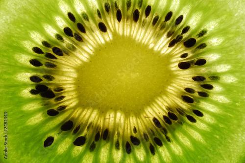 Spoed Foto op Canvas Plakjes fruit kiwi
