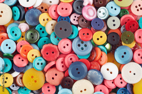 Poster Macarons colorful buttons