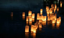 Japanese Lanterns Floating On ...
