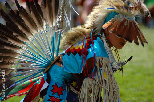 boy dancer with feathers