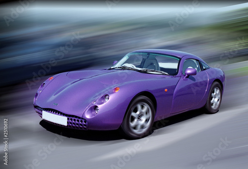 Türaufkleber Schnelle Autos purple sports car