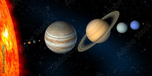 Obraz solar system - fototapety do salonu