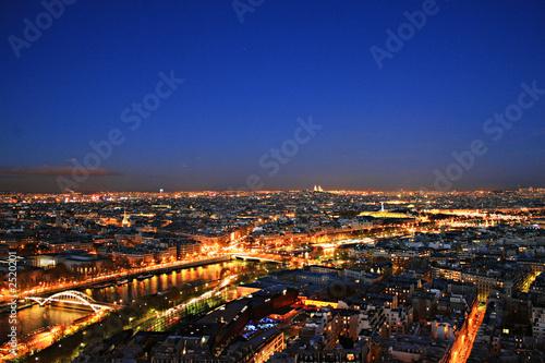 Poster Paris parigi di notte