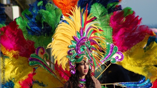 Fotobehang Carnaval pesonnage de carnaval deguisé