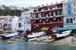 canvas print picture - italian shoreline