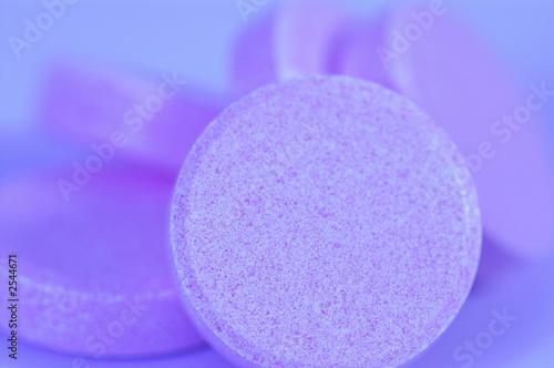 Garden Poster Light pink blue pill macro