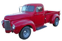 Old Red American Truck