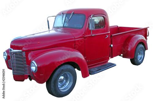 old red american truck © monamakela.com