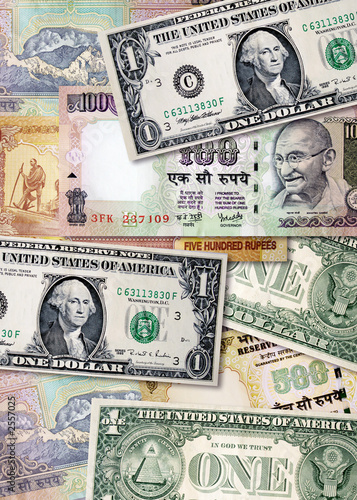 Indian Rus And Us Dollars This Stock Photo Explore