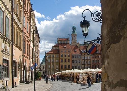 Fototapeta old town market square in warsaw obraz