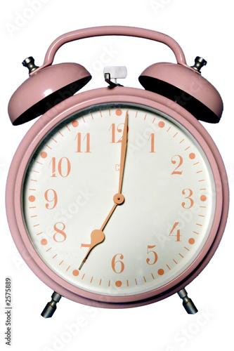 Fotografie, Obraz  pink alarm clock