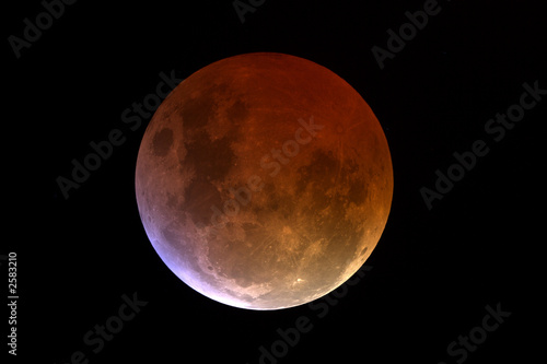 Obraz eclisse di luna: finale della totalità - fototapety do salonu