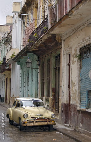 Türaufkleber Autos aus Kuba havana streets