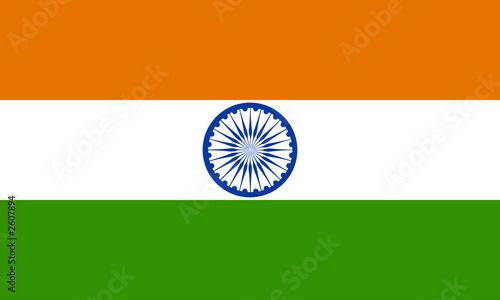 indien fahne india flag Fotobehang