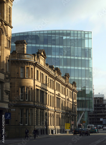 Fotografía Modern and Old Office Buildings, Deansgate, Manchester, England