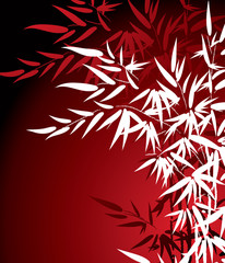 Panel Szklany Bambus bamboo leaves