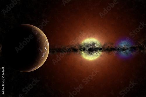 sistema binario con pianeta #2648607