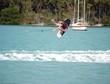 teen aged lady wake boarder