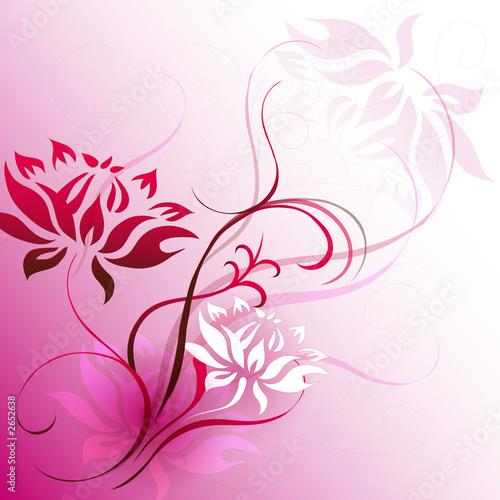 einzelne bedruckte Lamellen - pink motif (von Nombre Imagery)