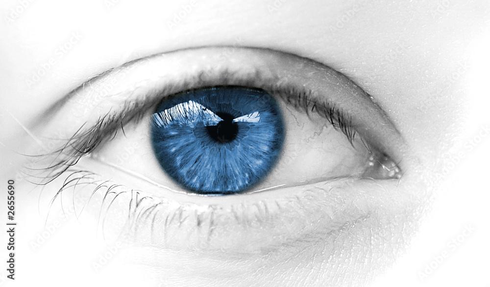 Fototapeta oeil de femme regard bleu doux calme