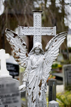 White Angel On A Cementery