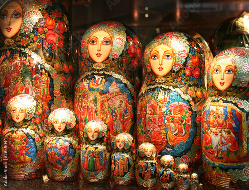 Foto op Canvas Moskou russian matrioshka nesting dolls