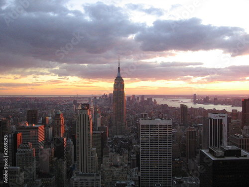 Foto op Aluminium New York city view from the rockafella center