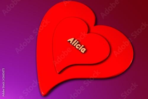 Photo alicia - 3d gerendertes herz