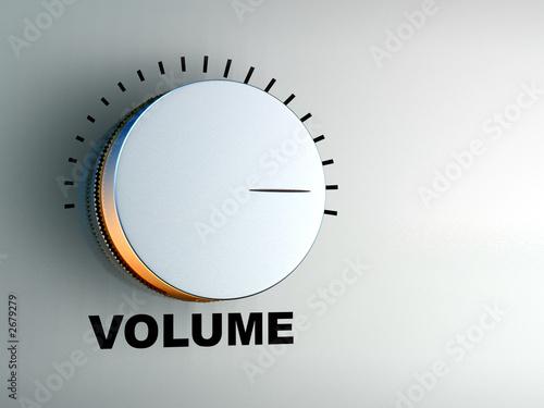 Fotomural  volume knob