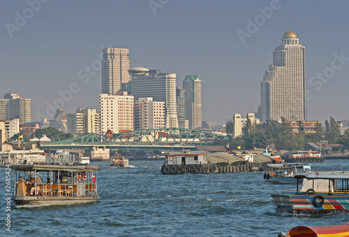 Photo  chao praya river in bangkok