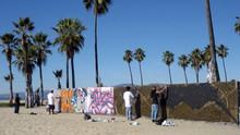 Los Angeles Graffiti Painters At Venice Beach