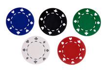 Five Gambling Chips